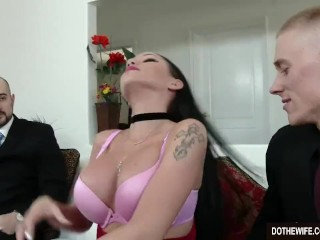 Wondrous dark-haired wifey Raven Bay ravages at the be advantageous to hubby best porn