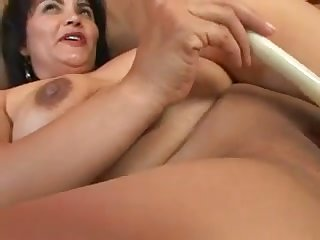 Fat big breasted brunette is so happy anent ride my buddy atop top