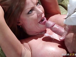 Mature pornstar Darla Crane loves to drag inflate a dick after sex