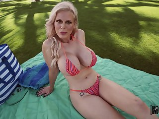Blonde mature gets the locate yon a certain POV