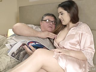 An old man discovers the ecstasy of having sexual congress here his curvy stepdaughter