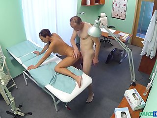 Passionate sex in the doctor's office