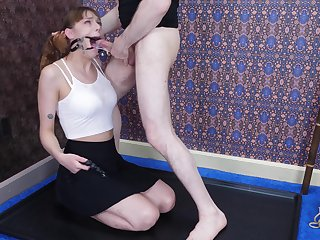 Whorish red haired babe Sailor Luna is pledged and face fucked