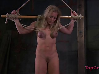 Rough boobs and pussy torture session by Dia Zerva be incumbent on the brush friend