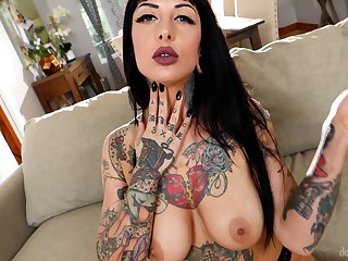 Slutty tattooed neighbor Jessie Lee loves having hardcore coitus