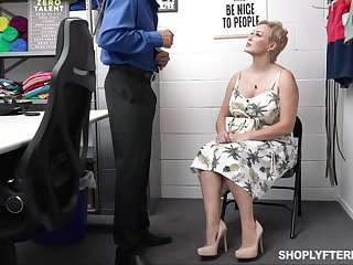 Be in charge sexy chubby woman gets punished for shoplifting