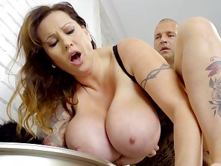 Colossal Hungarian MILF relating to grand natural boobs loves to get fucked properly